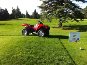 Golfers could win an ATV at the Hole-in-One contest, co-sponsored by Honda and Winnipeg Sport!