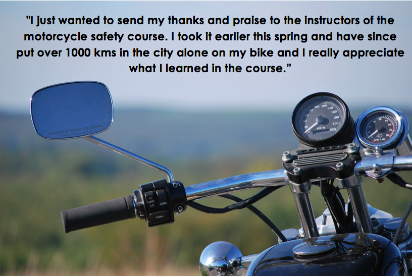 Thanks and Praise to the Motorcycle Safety Course Instructors
