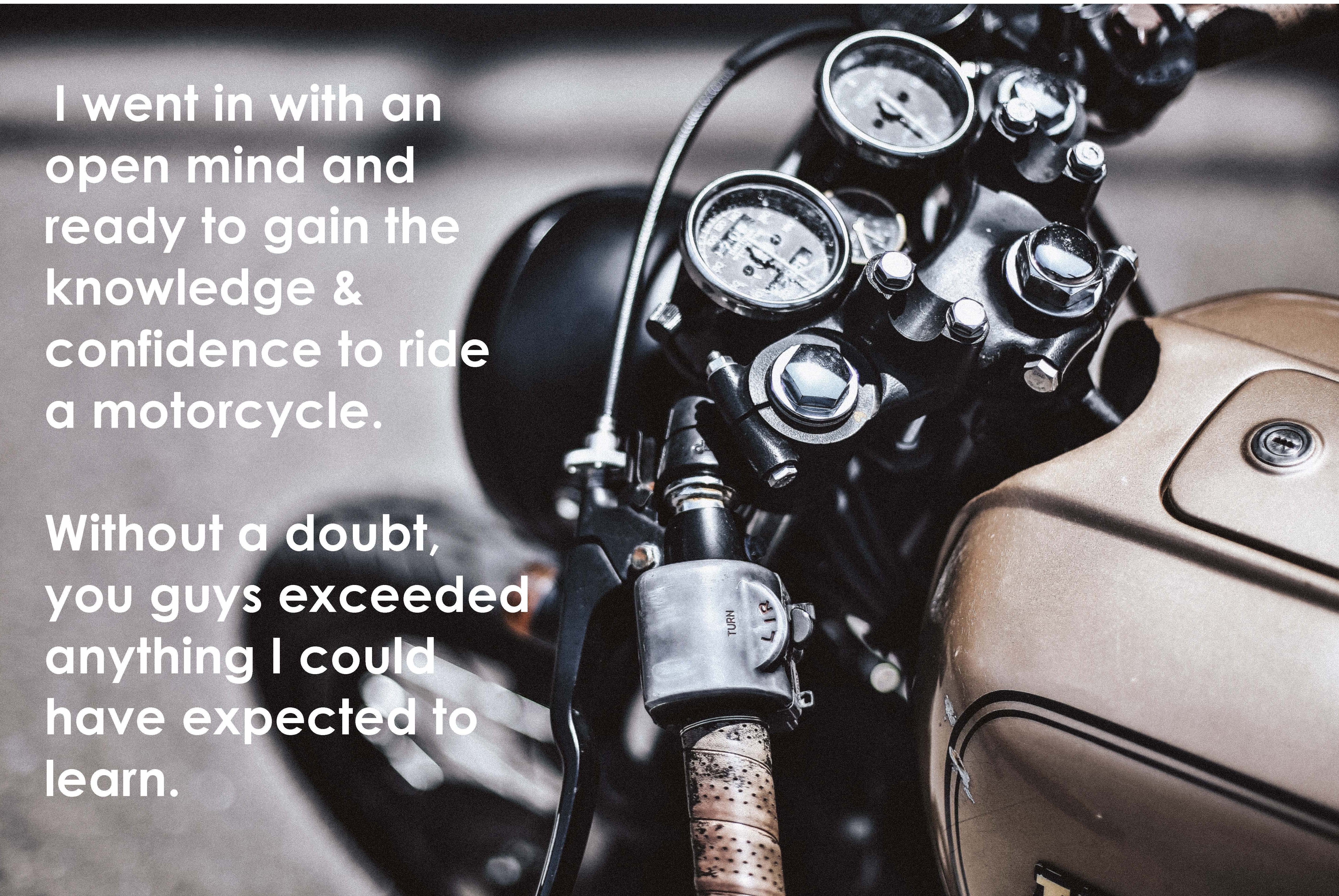 Motorcycle Training an Eye-Opening Experience